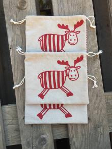 Úžitkový textil - vianočné vrecúško 5 - 12687448_