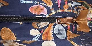 Kabelky - Kabelka lapače snov na modrom Bronz - 12687313_