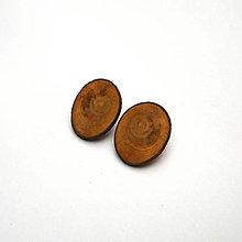 Náušnice - Drevená náušnice klipsňové - zo špaltovanej bukovej halúzky - 12683904_