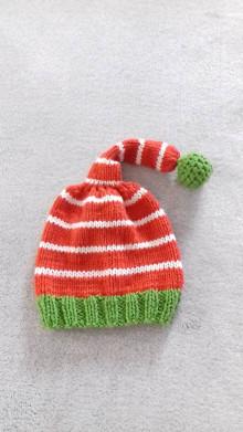 Detské čiapky - Čiapka škriatok - 12688735_
