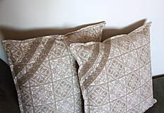 Úžitkový textil - Zimná sada - veľký obrus + 2 vankúše - 12691859_