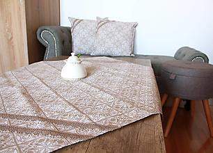 Úžitkový textil - Zimná sada - veľký obrus + 2 vankúše - 12691860_