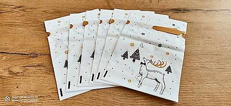 Obalový materiál - Dekoračné taštičky - Vianočné - 23x14,8 cm - 12690217_