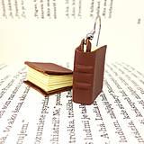 Náušnice - Knihové náušnice - hnedé - 12692553_