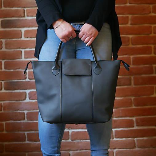 Veľké tašky - Kožená kabelka - Nora Mura - 12688818_