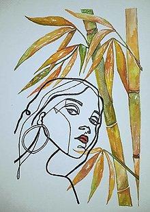 Obrazy - Palm bamboo - bambus šťastia - 12692680_