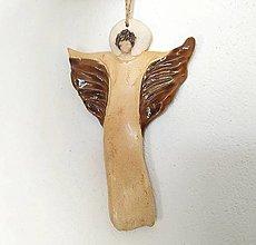 Dekorácie - Anjelik na stenu - 12690053_