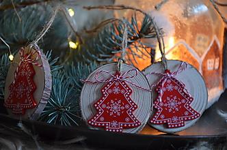 Dekorácie - Vianočné ozdoby  (Stromček) - 12693054_