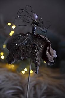 Dekorácie - Anjel zápich (Hnedá) - 12693130_