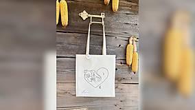 Nákupné tašky - ♥ Plátená, ručne maľovaná taška ♥ - 12689736_