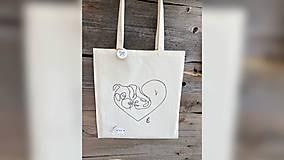 Nákupné tašky - ♥ Plátená, ručne maľovaná taška ♥ - 12689737_