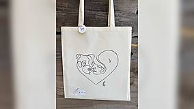 Nákupné tašky - ♥ Plátená, ručne maľovaná taška ♥ - 12689739_