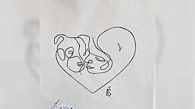 Nákupné tašky - ♥ Plátená, ručne maľovaná taška ♥ - 12689741_