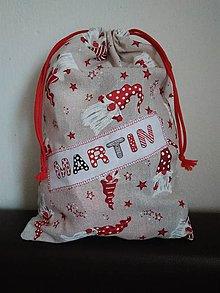 Úžitkový textil - Vianočné vrecúško s menom - 12688528_