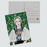 """Papiernictvo - Umelecká pohľadnica """"Krajanka"""" - 12689353_"""