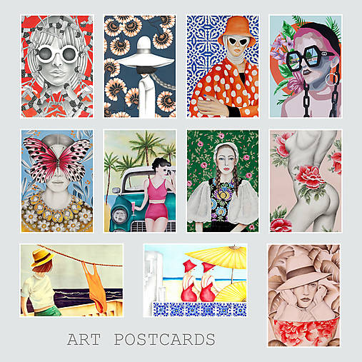 Umelecké pohľadnice - sada