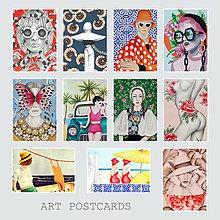 Papiernictvo - Umelecké pohľadnice - sada - 12689277_