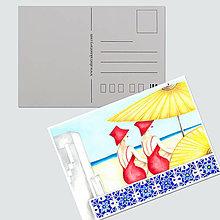 """Papiernictvo - Umelecká pohľadnica """"Summer time"""" - 12689373_"""
