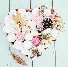 Detské doplnky - Plienková torta-box-vianoce-pink - 12693444_