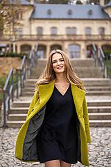 Kabáty - Vlnený kabát zelený - 12690374_