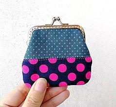 Peňaženky - Peňaženka mini Malé a veľké bodky - 12688431_