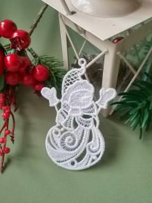Dekorácie - Vianočné ozdoby 2 (snehuliak) - 12693506_