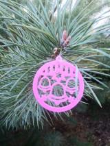 Dekorácie - Vianočné ozdoby 2 (Ružová - zvonček) - 12688206_