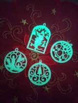 Dekorácie - Vianočné ozdoby 2 (Svietiace - lyžiar) - 12689983_