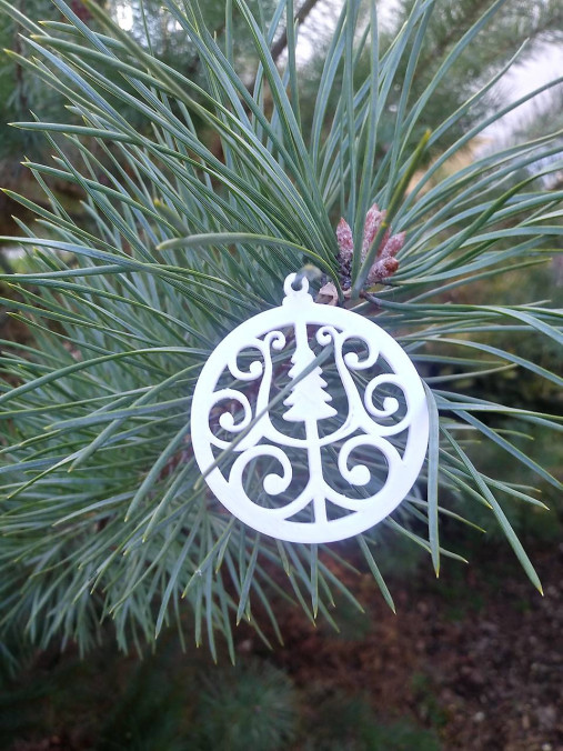 Vianočné ozdoby 2 (Biela - stromček)