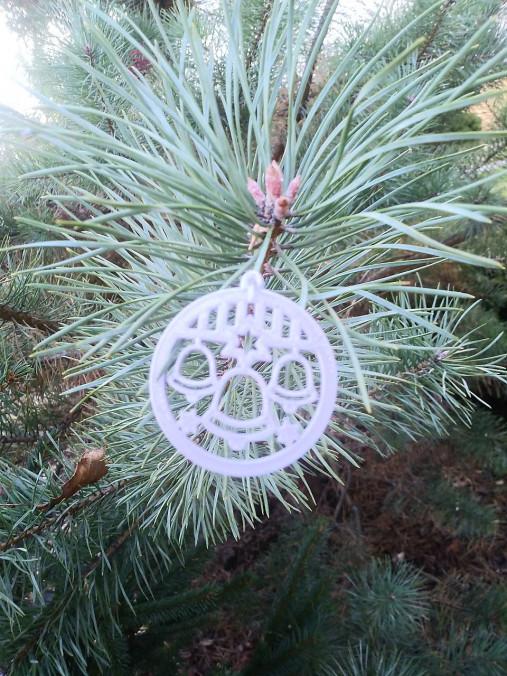 Vianočné ozdoby 2 (Strieborná - sviečka)