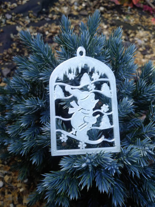 Vianočné ozdoby 2 (Svietiace - lyžiar)