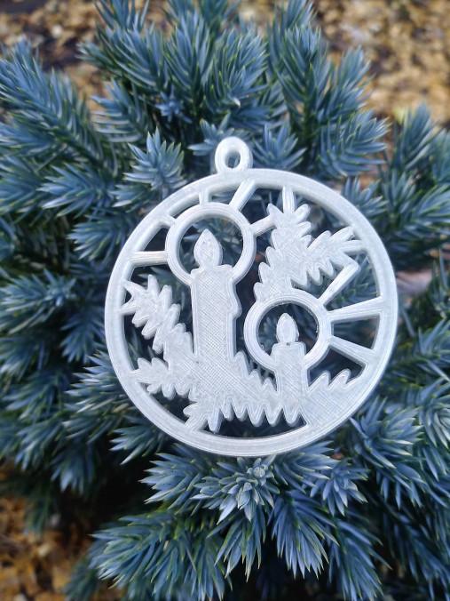 Vianočné ozdoby 2 (Svietiace - sviečka)