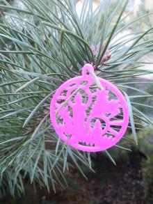 Dekorácie - Vianočné ozdoby 2 (Ružová - sviečka) - 12688210_