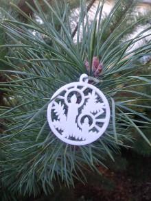 Dekorácie - Vianočné ozdoby 2 (Biela - sviečka) - 12688255_