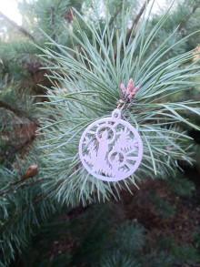 Dekorácie - Vianočné ozdoby 2 (Strieborná - zvonček) - 12689900_