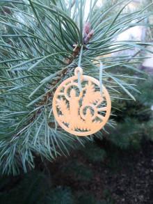 Dekorácie - Vianočné ozdoby 2 (Zlatá - sviečka) - 12689935_