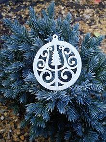 Dekorácie - Vianočné ozdoby 2 (Svietiace - stromček) - 12689973_