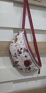 Iné tašky - Ľadvinka kvetiny Bordó - 12692170_