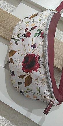 Iné tašky - Ľadvinka kvetiny Bordó - 12692177_