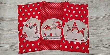 Úžitkový textil - Mikulášske sáčky so škriatkami - 12692244_