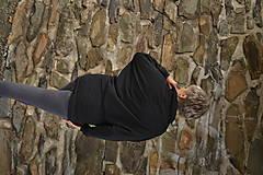Mikiny - Elegantná mikina Black - 12688402_