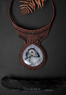 Náhrdelníky - Náhrdelník s polodrahokamom ACHÁT - 12691894_