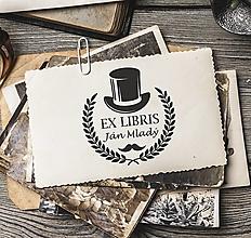 Nezaradené - Pečiatka EX LIBRIS Gentleman - 12695456_