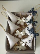 Dekorácie - Site Vianocne ozdoby-zlato modre - 12695741_