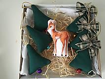 Dekorácie - Site Vianocne ozdoby v zelenej-ZLAVA - 12695817_