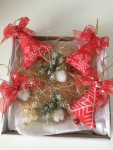 Dekorácie - Site Vianocne ozdoby-cervene - 12695871_