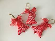 Dekorácie - Site Vianocne ozdoby-cervene - 12695873_