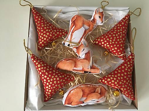 Site Vianocne ozdoby-zlato cervene