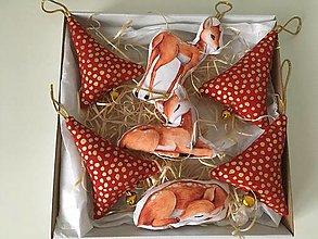 Dekorácie - Site Vianocne ozdoby-zlato cervene - 12695770_