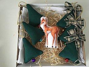 Dekorácie - Site Vianocne ozdoby v zelenej - 12695817_